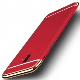 Coque Samsung Galaxy J6 Plus Rigide Chromée Rouge