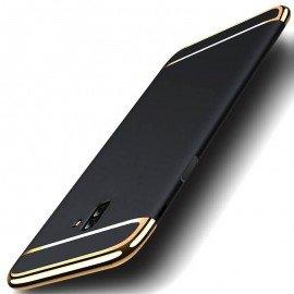 Coque Samsung Galaxy J6 Plus Rigide Chromée Noir