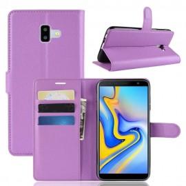 Etuis Portefeuille Samsung Galaxy J6 Plus Simili Cuir Violet