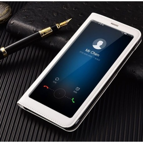 Etuis Portefeuille Huawei Mate 10 Lite Cover Vision Blanc