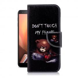 Etuis Portefeuille Samsung Galaxy J6 Plus Ourson