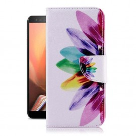 Etuis Portefeuille Samsung Galaxy J6 Plus Plumes