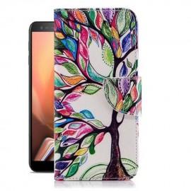 Etuis Portefeuille Samsung Galaxy J6 Plus Arbre