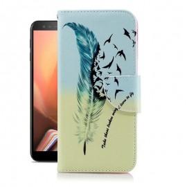 Etuis Portefeuille Samsung Galaxy J6 Plus Oiseaux