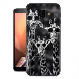 Coque Silicone Samsung Galaxy J6 Plus Girafes