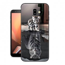 Coque Silicone Samsung Galaxy J6 Plus Chat Miroir