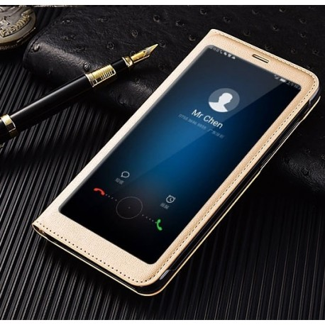 Etuis Portefeuille Huawei Mate 10 Lite Cover Vision Doré