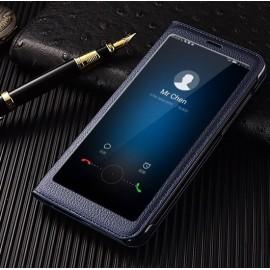 Etuis Portefeuille Huawei Mate 10 Lite Cover Vision Bleu