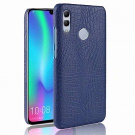 Coque Huawei P Smart 2019 Croco Cuir Bleue