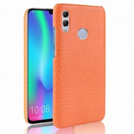 Coque Huawei P Smart 2019 Croco Cuir Orange