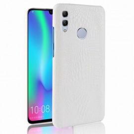 Coque Huawei P Smart 2019 Croco Cuir Blanche