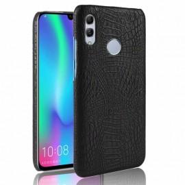 Coque Huawei P Smart 2019 Croco Cuir Noire