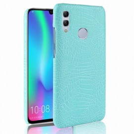 Coque Honor 10 Lite Croco Cuir Turquoise