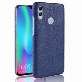 Coque Honor 10 Lite Croco Cuir Bleue