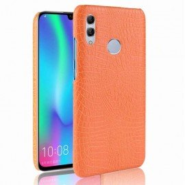 Coque Honor 10 Lite Croco Cuir Orange