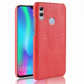 Coque Honor 10 Lite Croco Cuir Rouge