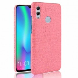 Coque Honor 10 Lite Croco Cuir Rose
