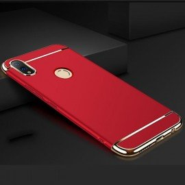 Coque Honor 10 Lite Rigide Chromée Rouge