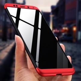 Coque 360 Xiaomi Redmi 5 Plus Noir et Rouge