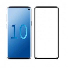 Verre trempé Samsung Galaxy S10  Protecteur d'écran Noir