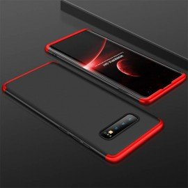 Coque 360 Samsung Galaxy S10  Noir et Rouge