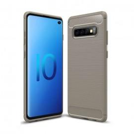 Coque Silicone Samsung Galaxy S10 Brossé Gris