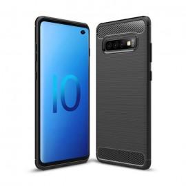 Coque Silicone Samsung Galaxy S10 Brossé Noir
