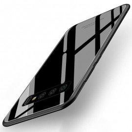 Coque Samsung Galaxy S10 Silicone Noir et Verre Trempé