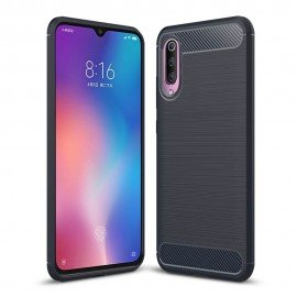 Coque Silicone Xiaomi MI 9 Brossé Bleue
