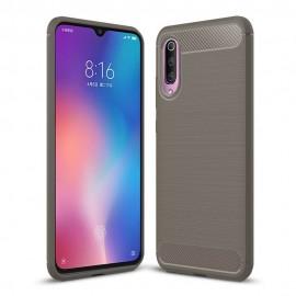 Coque Silicone Xiaomi MI 9 Brossé Grise