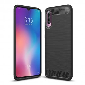 Coque Silicone Xiaomi MI 9 Brossé Noire