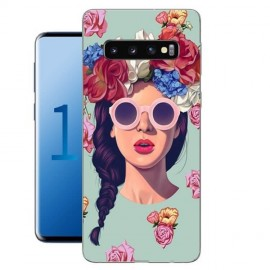 Coque Silicone Samsung Galaxy S10 Fille Hipster