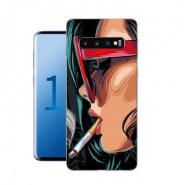 Coque Silicone Samsung Galaxy S10 Fille Cool