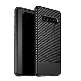 Coque Silicone Samsung Galaxy S10 Carbon 3D Noir