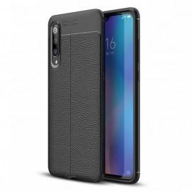 Coque Silicone Xiaomi MI 9 Cuir 3D Noire