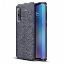 Coque Silicone Xiaomi MI 9 Cuir 3D Bleue
