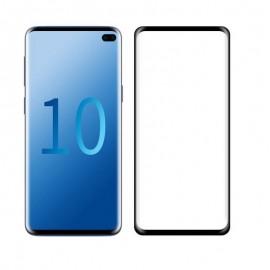Verre Trempé Samsung Galaxy S10 Plus Protecteur d'écran Noir