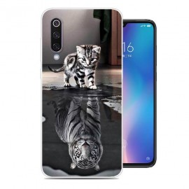 Coque Silicone Xiaomi MI 9 Chat Mirroir
