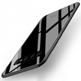 Coque Samsung Galaxy S10 Plus Silicone Noire et Verre Trempé