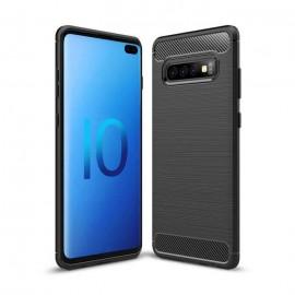 Coque Silicone Samsung Galaxy S10 Plus Brossé Noir