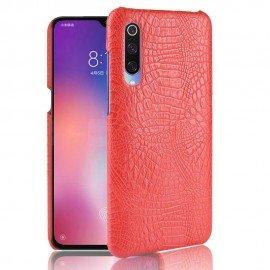 Coque Xiaomi MI 9 Croco Cuir Rouge