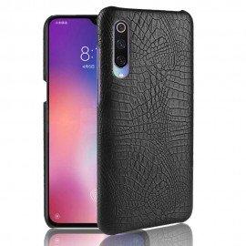 Coque Xiaomi MI 9 Croco Cuir Noire