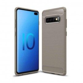 Coque Silicone Samsung Galaxy S10 Plus Brossé Grise
