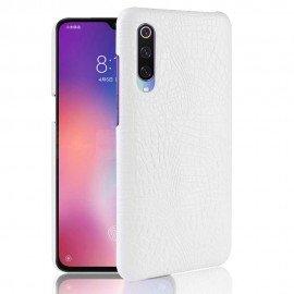 Coque Xiaomi MI 9 Croco Cuir Blanche