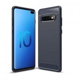 Coque Silicone Samsung Galaxy S10 Plus Brossé Bleue