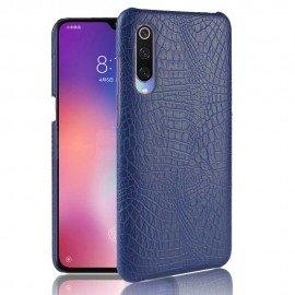 Coque Xiaomi MI 9 Croco Cuir Bleue