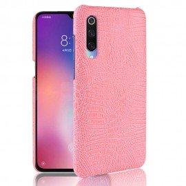 Coque Xiaomi MI 9 Croco Cuir Rose
