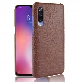 Coque Xiaomi MI 9 Croco Cuir Marron