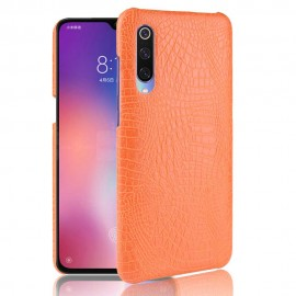 Coque Xiaomi MI 9 Croco Cuir Orange