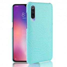 Coque Xiaomi MI 9 Croco Cuir Turquoise